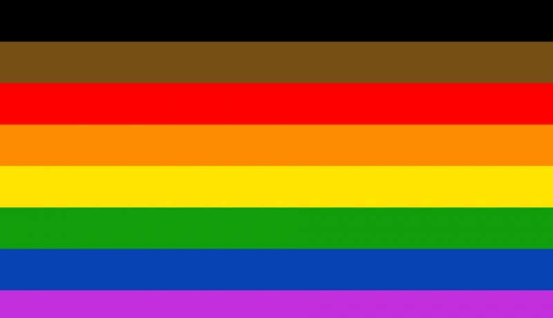 Image of rainbow flag.