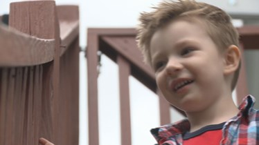 Picture of Kristy Scamman's three year old son, Cooper.